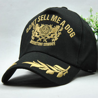 Gold embroidered baseball cap sun-shading baseball cap hiphop