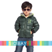 Boys Winter Down Coats Big Boy Plaids Hooded Thick Warm Down Outerwear,Kids Winter Clothes,Free Shipping  K4433