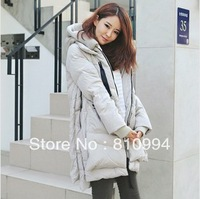 EMS free shipping 2013 winter hot-selling with a hood plus size clothing thermal  down coat 4185