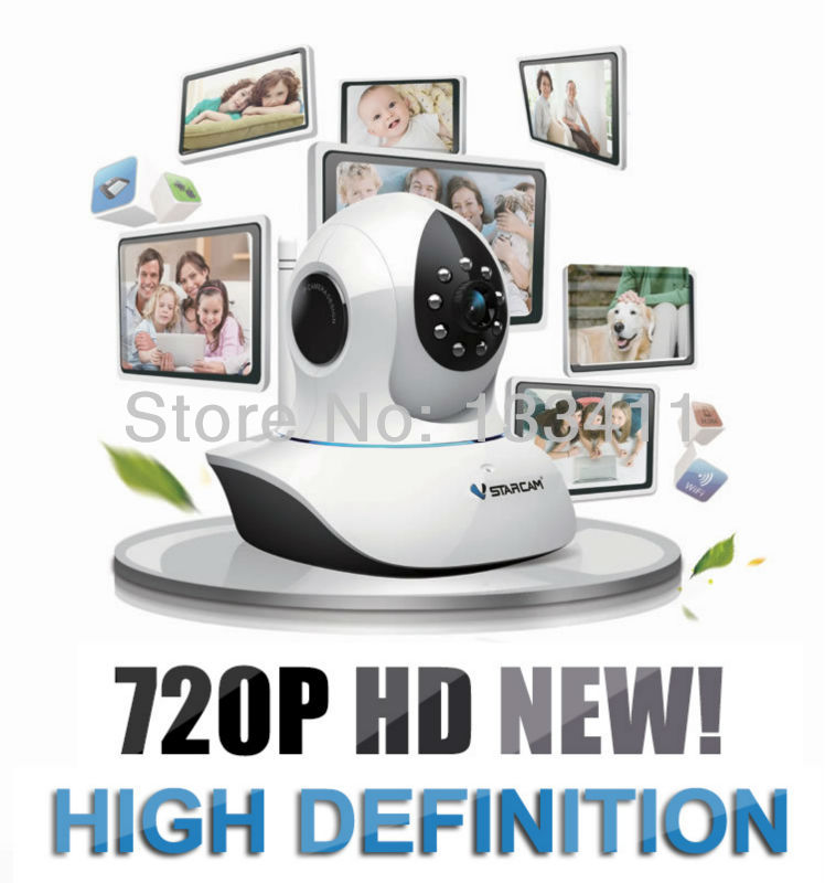 Hot Vstarcam T7838WIP P2P PnP Plug&Play Audio Wireless/WiFi IP Camera 720P cloud Pan/Tilt TF Micro SD Card IR Cut Security(China (Mainland))