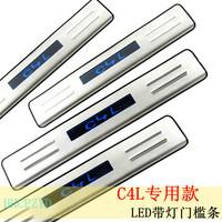 Citroen c4 l door sill strip led light belt decoration c4 modified citroen l welcome pedal
