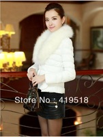 2013 New Arrival Women's Down Cotton-Padded Jacket Cotton Short Heavy Hair women Clothes Coat (upset)