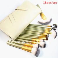 Professional 18pcs Make Up Brush Kit Superfine Hair Anti Allergic Brush Kit Free Shipping