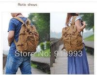 Unisex retro casual shoulder bag backpack schoolbag bag men canvas bag large capacity