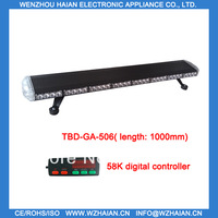 Free shipping 1w led light 1000MM amber/red/blue/white led color with Black aluminum material low profile lightbar TBD-GA-506