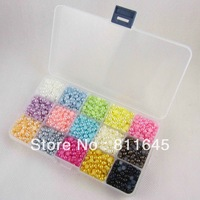 Free shipping 4MM 9000pcs/BOX Colorful Fake Pearl Mix Colors imitation pearl beads Beautiful decoration and DIY nail art