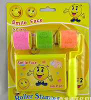 10PCS Smiley infants early childhood educational children's cartoon stationery / wheel / seal / stamp