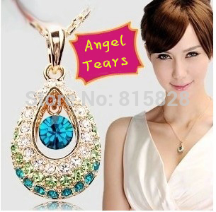 Special Free Shipping!Angel Tears elegant U disk 8g Ms. favorite Swarovski Crystal usb flash drive(China (Mainland))