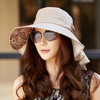Hat female summer sun hat folding anti-uv sunbonnet big sun hat beach cap