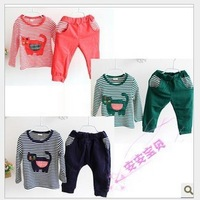 New 2013 baby boys hello kitty clothing sets cartoon 2pcs sport suits children fashion clothes A29