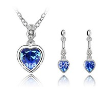 Austrian Crystal Set - Xi Love (Blue) 2714