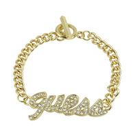 Best Selling Fashion Crystal Big Letters Statement  Bracelet On Promotion