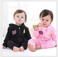 New 2013 baby kids flag polo clothing sets children causal track suits A23 high quality