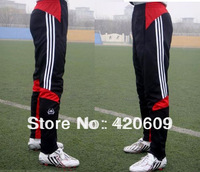 Wholesale Casual Male Sports Trousers Cloth Football Training Leg Pants Soccer Fashion Active Elastic Sport Pant FRE SHIP