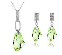 Product Name Austrian Crystal Set - moon breeze (Olive) 6324