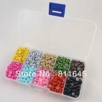Free shipping 2300pcs Mix 10Colors 5mm imitation pearl beads Beautiful decoration and DIY nail art