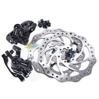 Radius-2.0 white red black line dish mechanical disc brakes