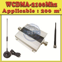Free Shipping! Mini WCDMA 2100Mhz 3G Signal Booster Mobile Phone 3G Repeater WCDMA Signal Receiver+Cable+Antenna,cover 200m2