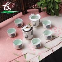 Snowflakes glaze and exquisite kung fu tea tea set tea service of a complete set of jade snow