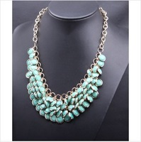 Fashion good quality bohemia multi-layer necklace short design necklace for women