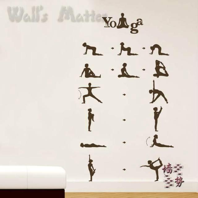 Yoga wall decals