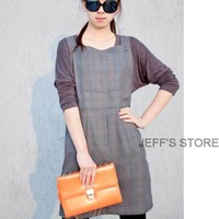 Hot Sale free shipping Restaurant Commercial Kitchen Chef Bib Apron Sleeveless Two Pockets High Quality Dress Gray
