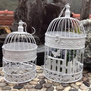 Grátis forjado envio ferro gaiolas decorativas do pássaro casamentos vasos de flores estilo europeu de moda inoxidável pequeno tamanho 14 * 14 * 25 cm(China (Mainland))