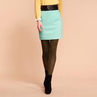 Goelia 2013 spring new arrival women's wool high waist bag all-match bust skirt short skirt 31r2a07a