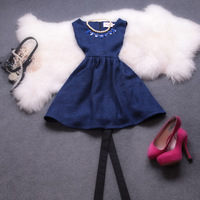 2013 autumn and winter women ladies elegant slim a autumn and winter skirt woolen sleeveless vest one-piece dress