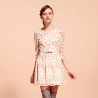 Goelia GOELIA 2013 spring gauze flower cutout 33r4d270 one-piece dress