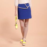 Goelia 2013 spring color block women's hemming bust skirt slim hip short skirt brief elegant 33c2a100
