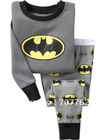 Batman baby pajamas kids jumpsuits long sleeve pajamas bodysuit kids sleepwear, Free shipping 6 sets/lot