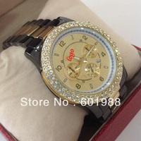 1PCS Free Shipping Two Tone Strap Popular Watch Men 3 Dial Quartz Hotting Sale Watches