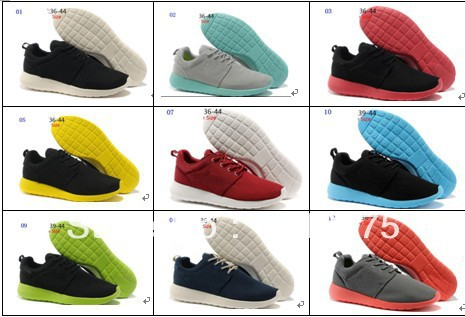 Free Shipping Brand Name Running Shoes man's Sports roshe run shoes Cheap On Sale special for man athletic shoes colorful(China (Mainland))