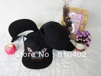 2014 NEW Korean Fashion Cute Cat Ears Hat Cartoon Animal Cap 3D Ear Cat Snapback Hats Cute Adjustable Baseball Cap