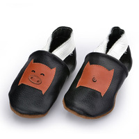 New Arrivals European Genuine Soft Leather Round Toe Comfortable Applique Wrestling Baby Shoes Free Shipping BAB032