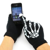 Bones grab touch warm gloves / iphone touch screen gloves control