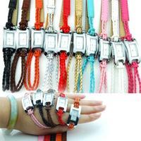 Min. 16 Fashion Ladies Womens Bracelet Charm Multi Layer Woven Leather Band Quartz Wrist Watch More Colors 058X