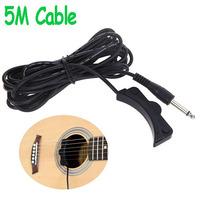 Classical Acoustic Guitar Amplifier Soundhole Pickup 6.3mm Jack 5M Cable drop shipping wholesale wholesale