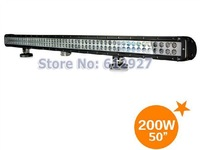 "50"" CREE LED Light Bar 200W LED Headlight For Truck SUV Offroad 4WD Boat ATE 4X4 LED Spot Beam and Flood Beam LED Work Light"