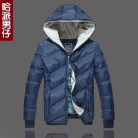 Male male winter thermal teenage cotton-padded jacket thickening wadded jacket outerwear winter cotton-padded jacket  down