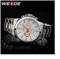 Weide commercial fashionable casual multifunctional waterproof needle male quartz watch transparent back cover