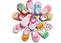 Cute Unisex Baby Kids Toddler Girl Boy Anti-Slip short Socks Shoes Slipper 6-24 Months baby wear baby socks 24pairs