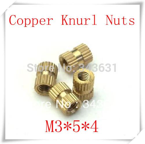 Резьбовая муфта WF 3 * 5 * 4 /3  M3*5*4 brass knurl nuts цена и фото
