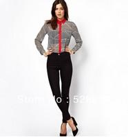 Geometric  women chiffon blouses free shipping