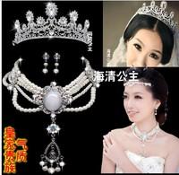 Wedding/Bridal crystal veil tiara crown headband CR228