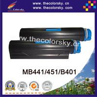 (CS-OB451) BK toner laser cartridge for OKI 62439001 44992405 MB451 MB441 B401 B401D B401DN (2.5k pages)