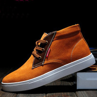 Free shipping shoes men 2013 fashion cotton-padded shoes male genuine leather casual winter warm high-top boots,wholesale,hot