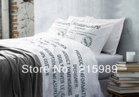Individuality cotton bedding 100% four piece set activity duvet cover bed sheets