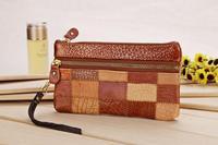 Stitching cowhide shoulder bag girl slung over handbag wallet fashion purse lady bag I20006